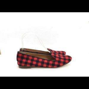 J.Crew 7 Flannel Buffalo Plaid Loafers Flats 7